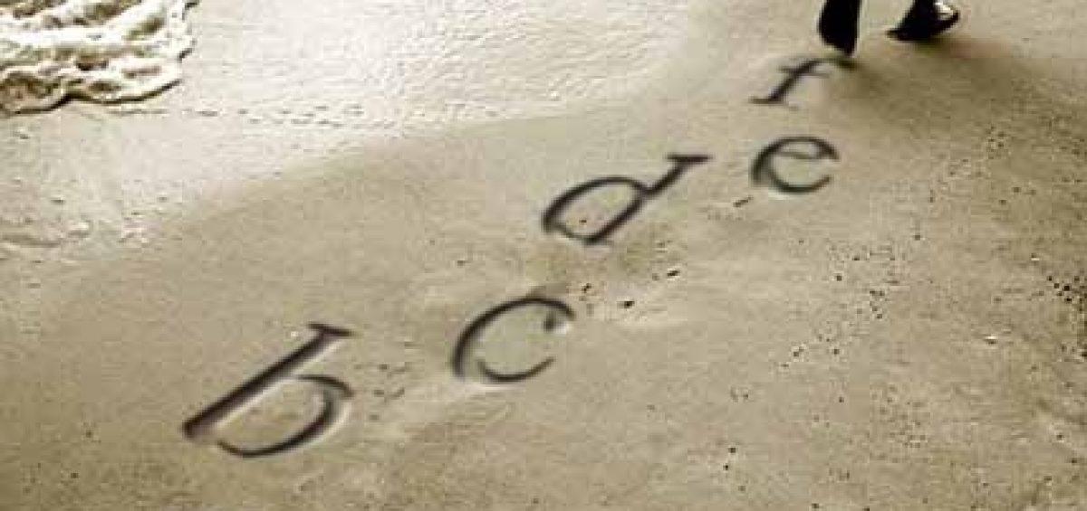 letras con huella