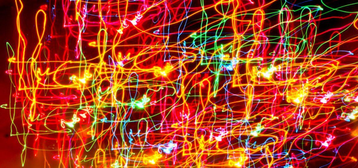 garabatos de luces