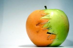 media naranja o manzana