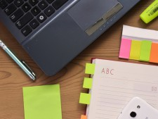 desk notebook notes