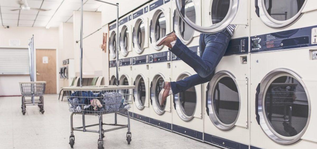 metido en una lavadora