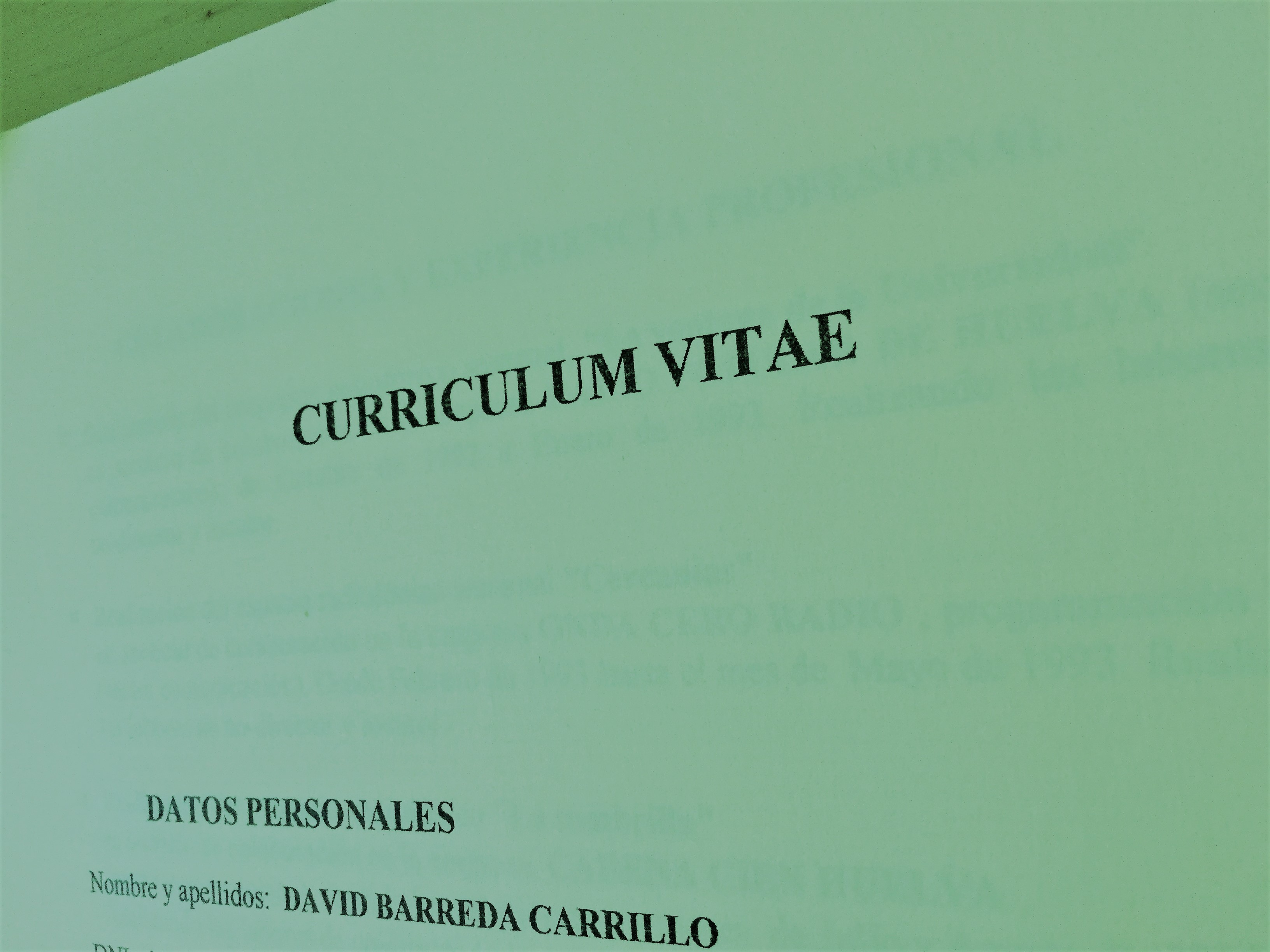 Mi primer CV (2ª parte) .- David Barreda - Procesos y Aprendizaje