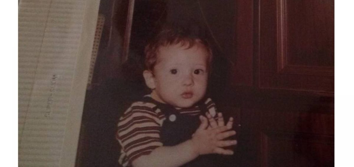 david el día de su primer cumpleaños