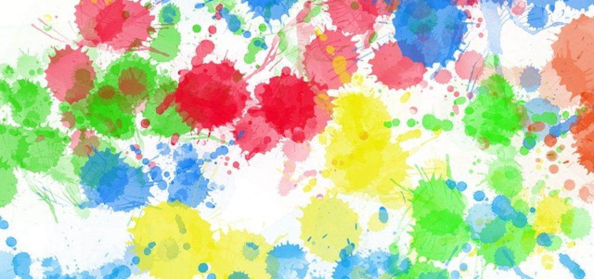 gotas de pintura de colores